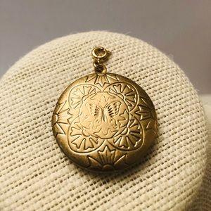 Vintage round gold filled locket